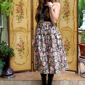 🍄Vintage Bohemian Belted High Waisted Skirt
